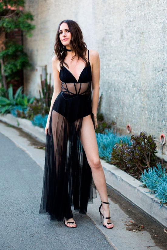 black mesh dress sexy