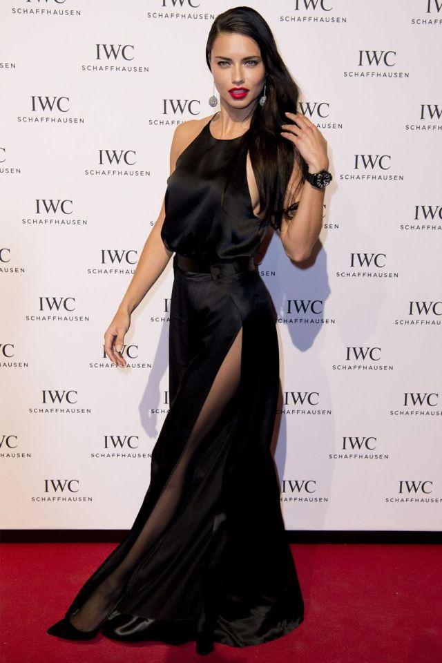 black satin dress supermodel