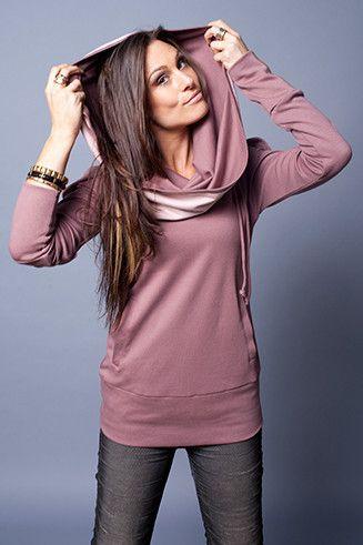 cowl neck sweatshirt lilac