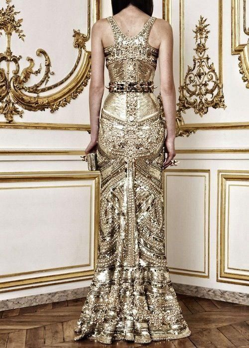 gold sparkly dress embroidered