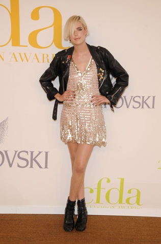 gold sparkly dress leather jacket