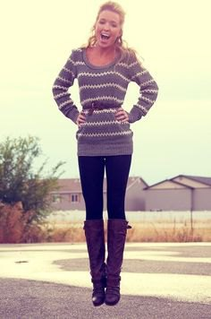 grey and white striped knit sweater boots