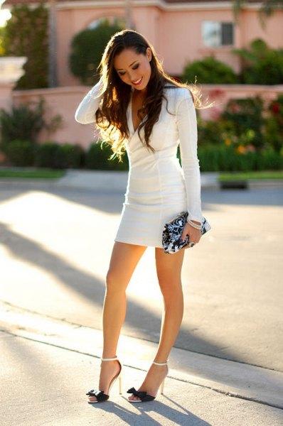 long sleeve bodycon mini dress