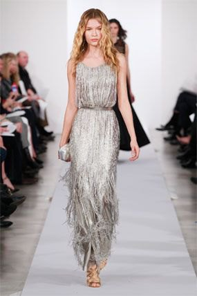 maxi belted silver sequin fringe dress