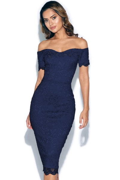 off shoulder sweetheart neckline bodycon dress