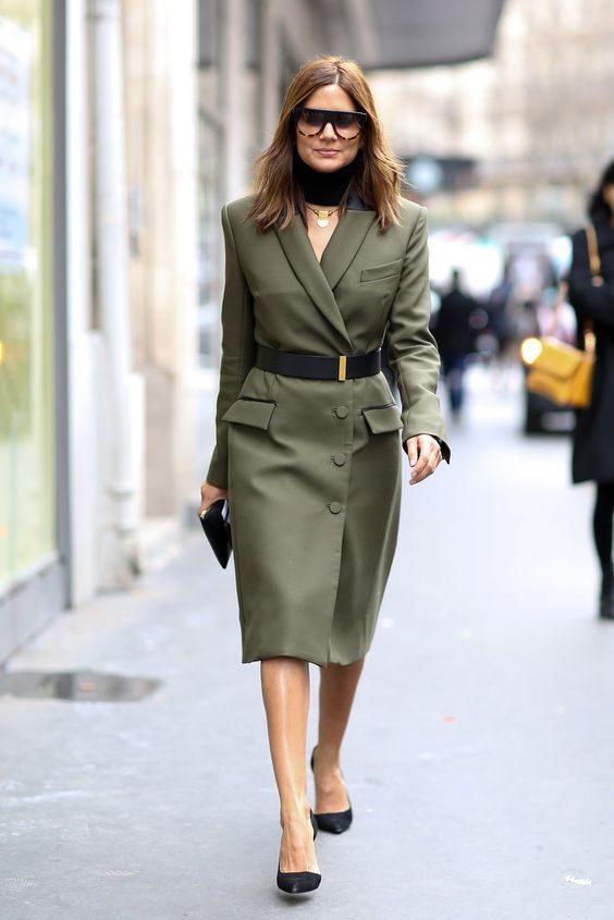 olive green dress blazer