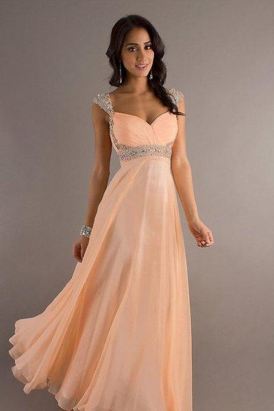 peach sweetheart maxi tulle dress