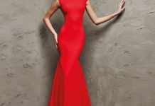 red mermaid dress classic
