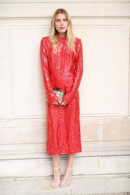 red sequin dress midi classic