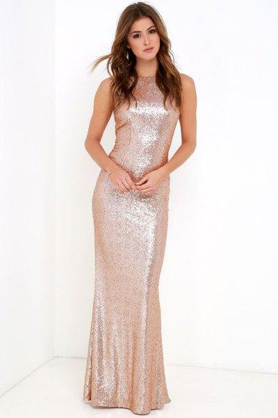 rose gold sequin mermaid dress