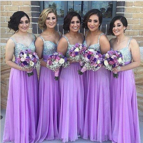 silver and purple chiffon pleated maxi bridesmaid dress