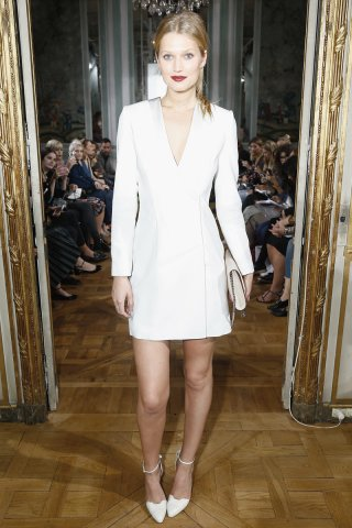 white blazer dress all white