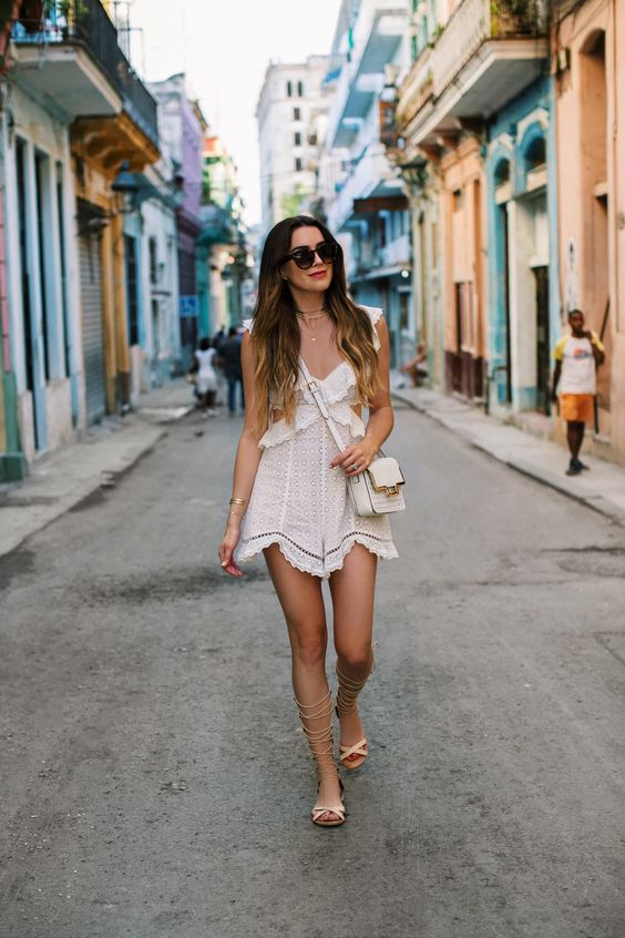 white cut out dress seaside