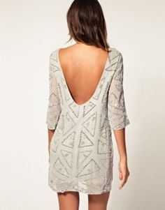 white half sleeve printed shift dress