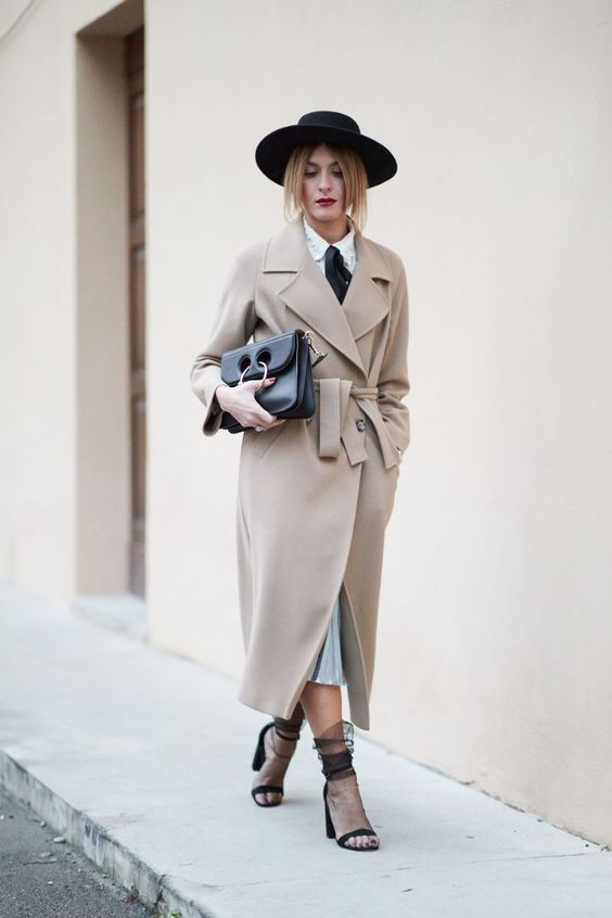 tulle socks trench coat