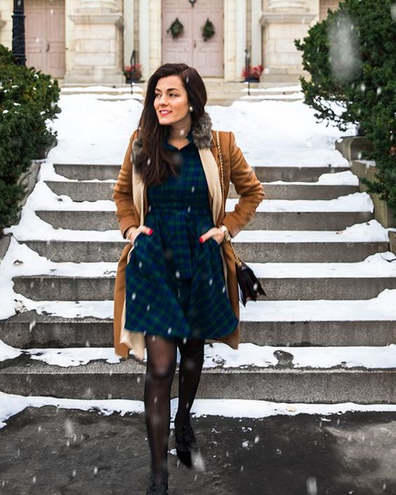 flannel dress winter