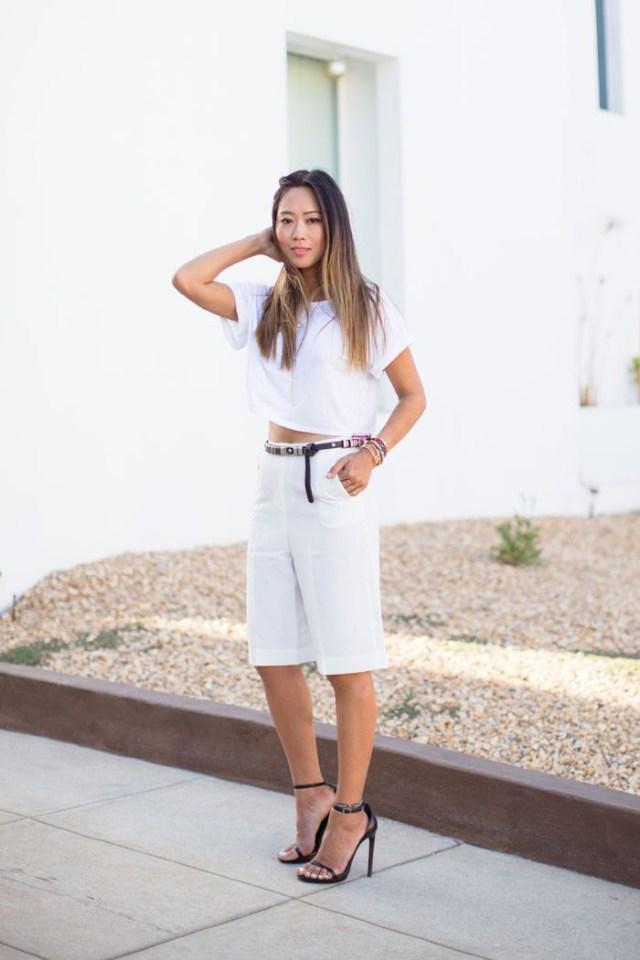 bermuda shorts all white everything