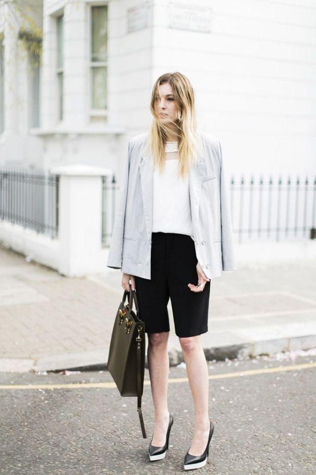 bermuda shorts neutral shades