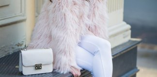 best pink faux fur jacket outfits