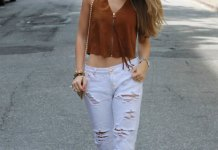 best white distressed jeans outfits