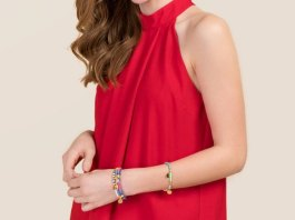 best red halter top outfit ideas