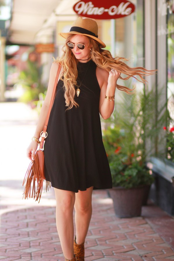 best black swing dress outfit ideas