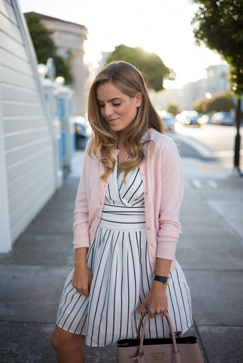 black and white striped dress cardigan