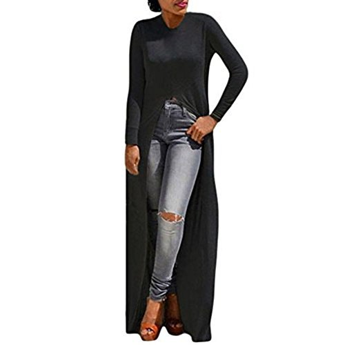 black high low t shirt ripped jeans