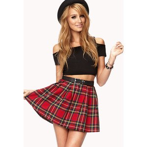 black off shoulder crop top skater skirt