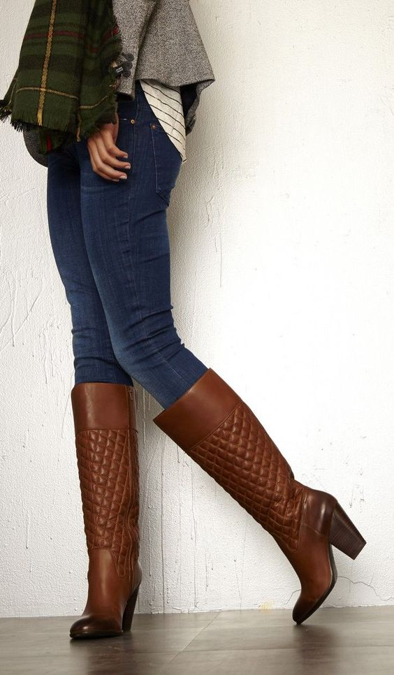 quilted boots work wear