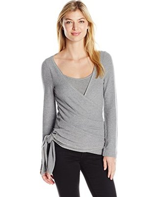 grey sweater over matching vest top