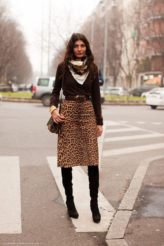 leopard print skirt italian