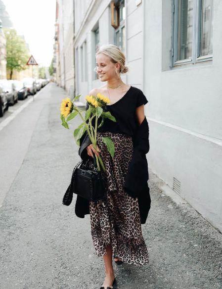 leopard print skirt ruffles