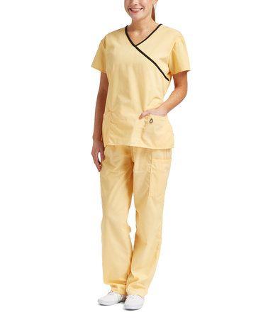 scrub pants yellow