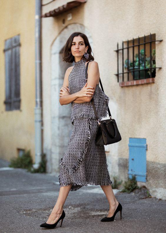 tweed dress set makes dress