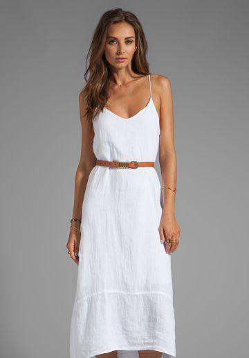 white tank dress boho