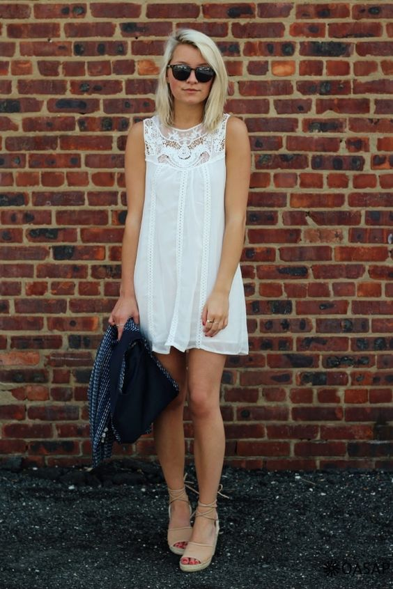 white tank dress crochet