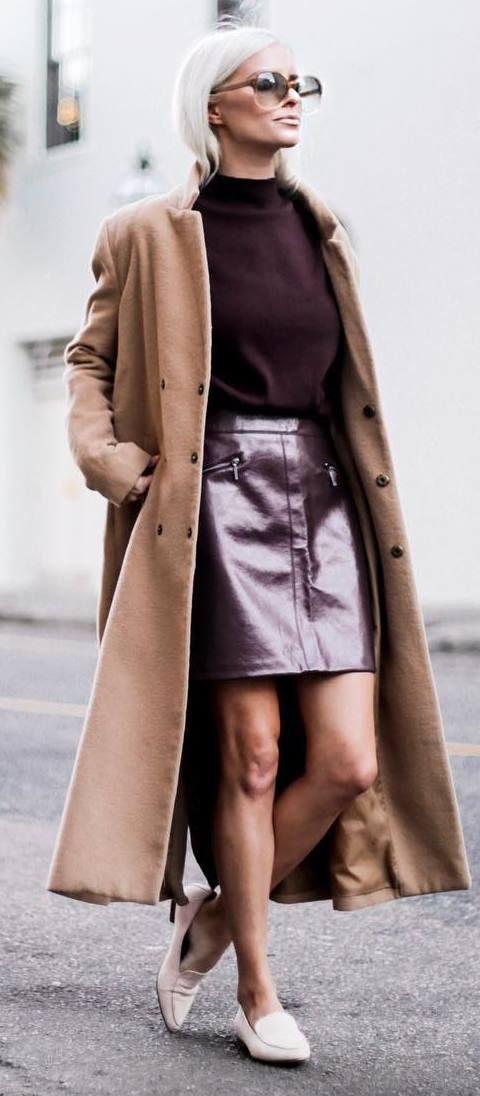 cashmere coat metallic