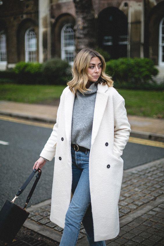 cashmere coat white