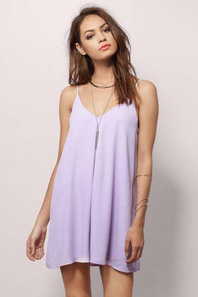 baby blue chiffon mini cami dress