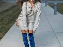 best velvet over the knee boots outfits