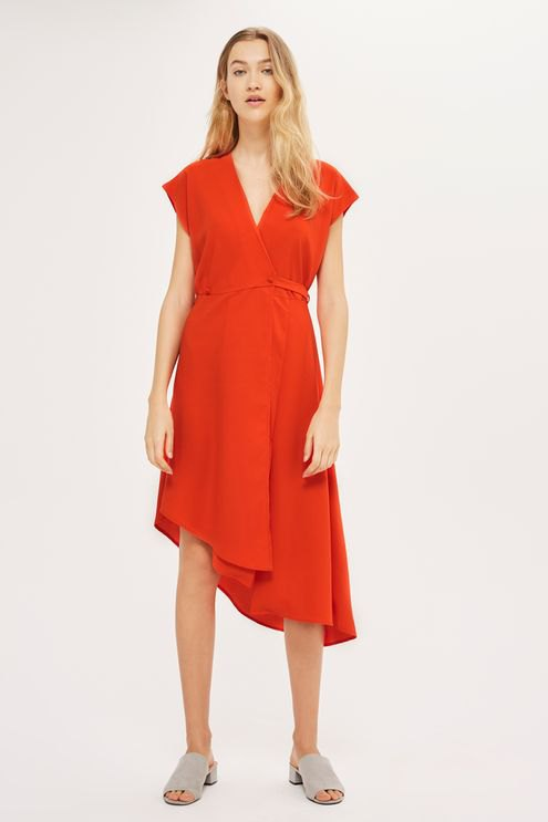 best red wrap dress outfit ideas