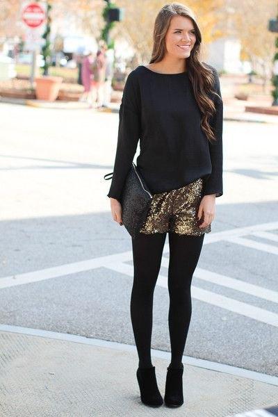 black loose fit sweater leggings