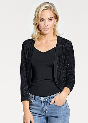 black shrug mom jeans