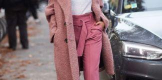 boucle coat pink