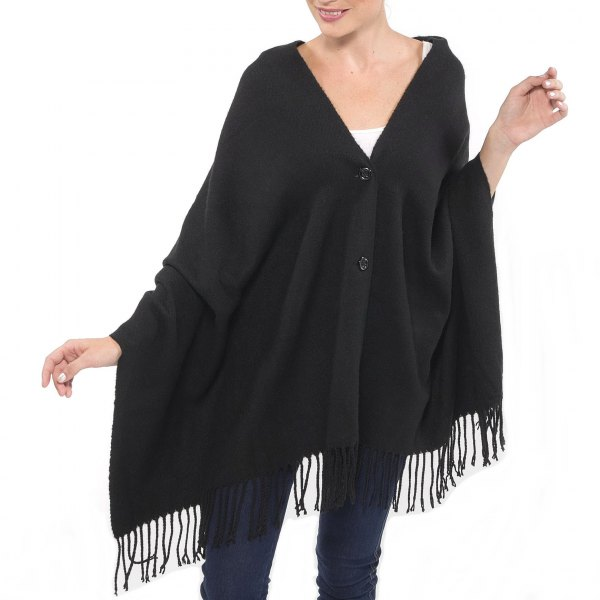 button up black shawl white tank top jeans