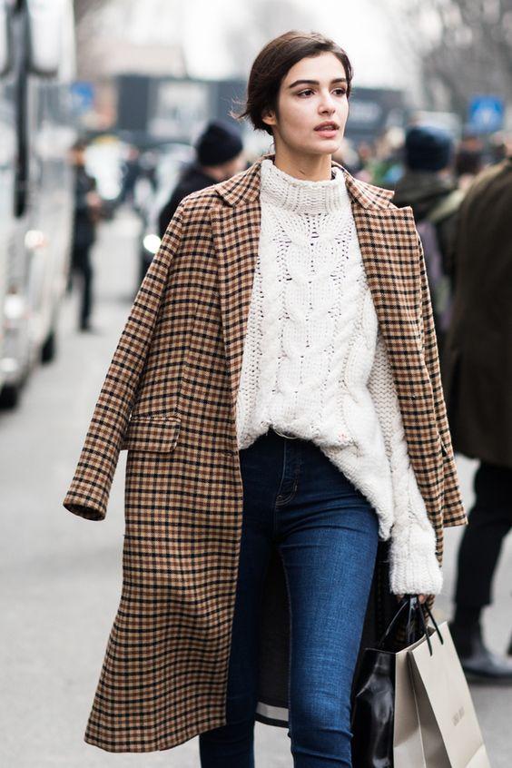 cashmere coat checkered