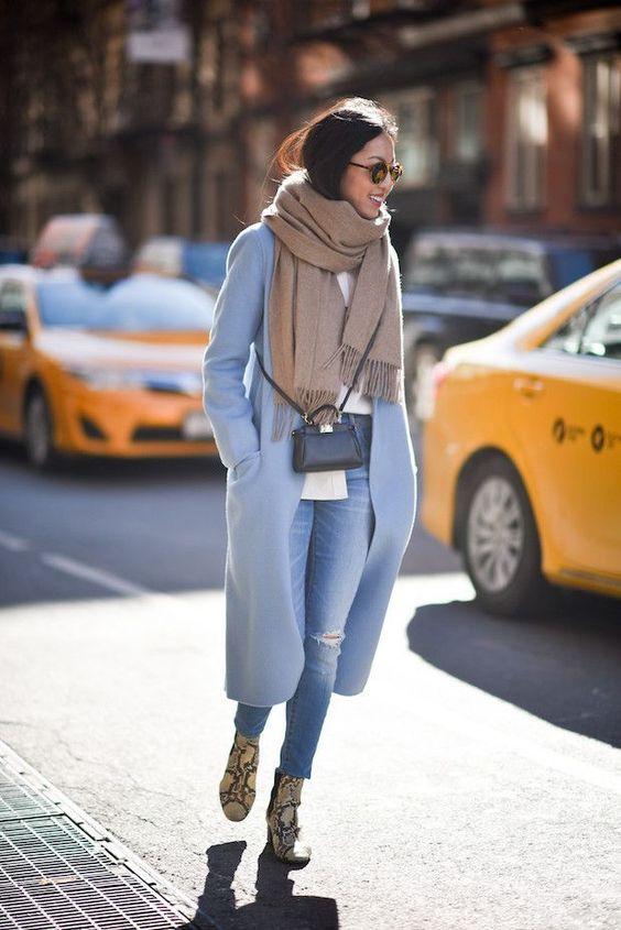 cashmere coat snakeskin boots