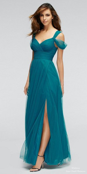 cold shoulder gathered waist chiffon maxi dress