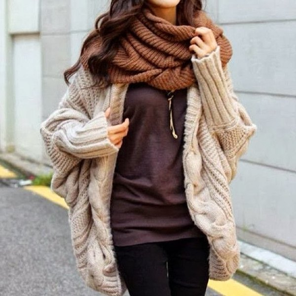 ivory cable knit chunky cardigan